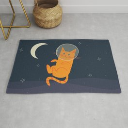 Floating Space Cat Rug