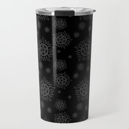 Anti Possession Pattern White Glow Travel Mug