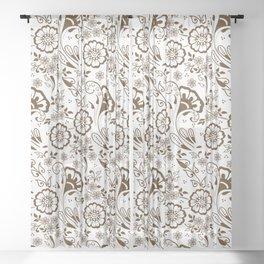 Mehndi or Henna Florals Sheer Curtain