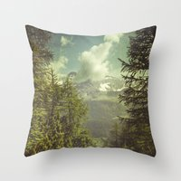 italian Throw Pillows featuring Mountain View - Italian Alps by Dirk Wuestenhagen Imagery