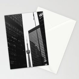 CN Tower Between Buildings Stationery Cards
