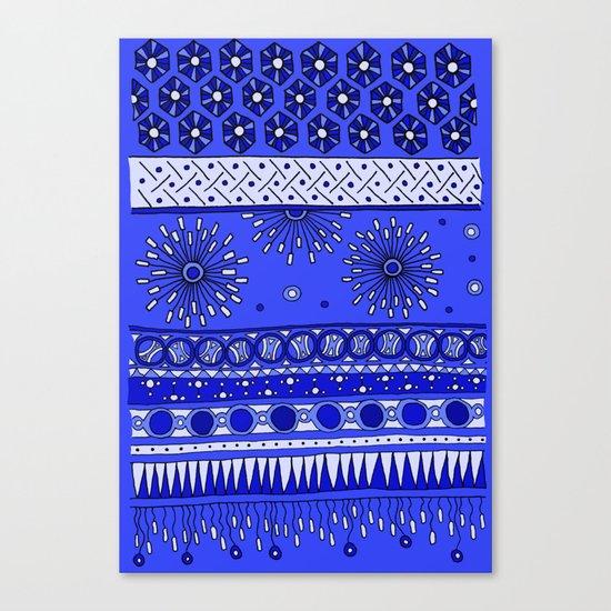 Yzor pattern 007-2 blue Canvas Print
