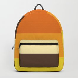70s Retro Striped Color Pattern Backpack