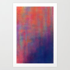 sunset pond Art Print