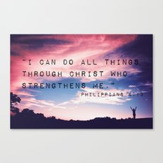 Philippians 4:13 in Nature Canvas Print
