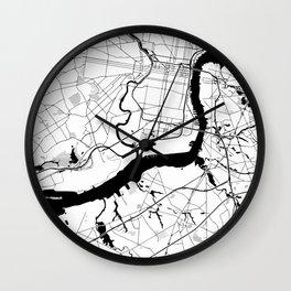 Philadelphia Minimal Map Wall Clock