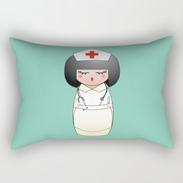Kokeshi Nurse Rectangular Pillow