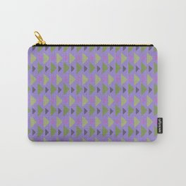 Geometrical purple green hand painted triangles pattern Carry-All Pouch