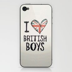 One Direction - I love British boys iPhone & iPod Skin