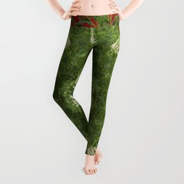 Cardinal flower and Culver's root kaleidoscope Leggings