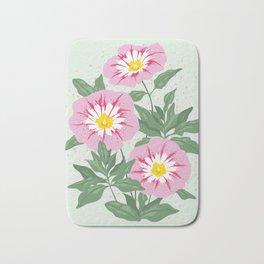 Pink Bindweed Flowers Bath Mat