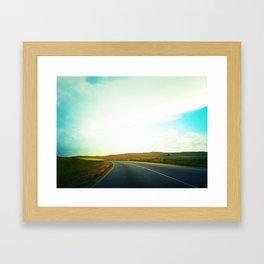 African Road Framed Art Print