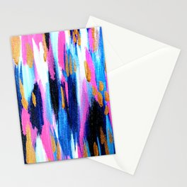 Spring Golden - Pink and Navy Abstract Stationery Cards