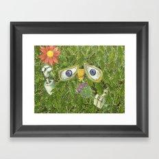 wall-E in the bushes Framed Art Print