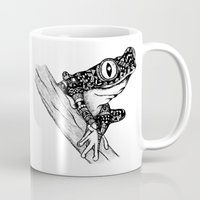 frog Mugs featuring Frog by Emma Barker