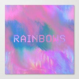 RAINBOWS 13-17-07 (rainbow cloud glitch) Canvas Print