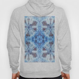 tie dye ancient resist-dyeing techniques Indigo blue brown textile Hoody