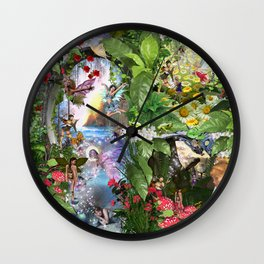Fairy Kingdom Forest Dreamland Fantasy Stories Wall Clock