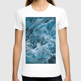 Blue Ice Glacier in Norway - Landscape Photography T-shirt