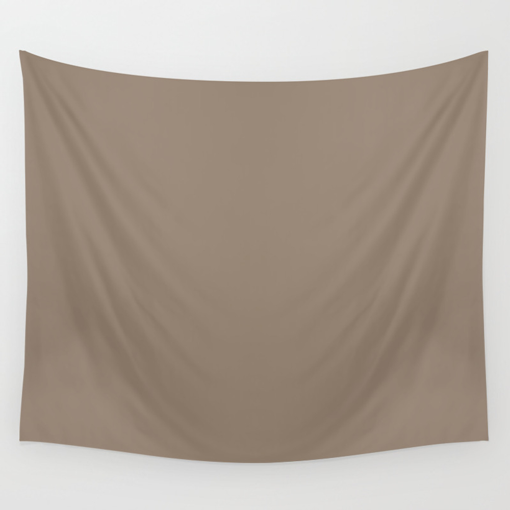 Baby Blue Ocean ~ Sandy Brown Coordinating Solid Wall Tapestry by Nancyjcreates TPS6990878