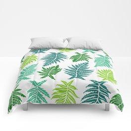Inked Ferns – Green Palette Comforters