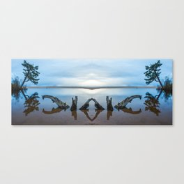 Rooted driftwood Canvas Print
