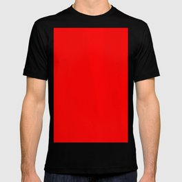 abstract red oil painting framed T-shirt
