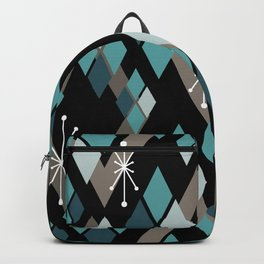 Mid Century Modern Diamonds (Black) Backpack