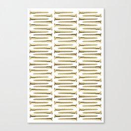 Golden Screws Pattern Poster Canvas Print