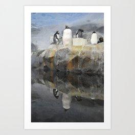 Penguin Reflection Art Print