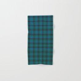 Tartan - Blue and Turquoise on a dark background Hand & Bath Towel