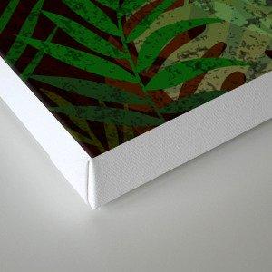 TROPICAL GREEN LEAVES BROWN B. Canvas Print