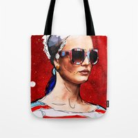 sunglasses Tote Bags featuring Sunglasses by Ed Pires