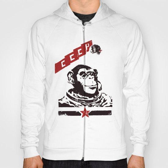 Soviet Space Monkey Hoody