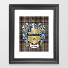 Thompson Crest and Tartan Framed Art Print