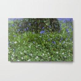 Wild Flower Wood Metal Print