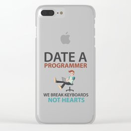 Date A Programmer Clear iPhone Case