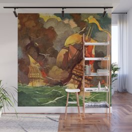"""Book of Courage"" Cover by Frank Godwin Wall Mural"