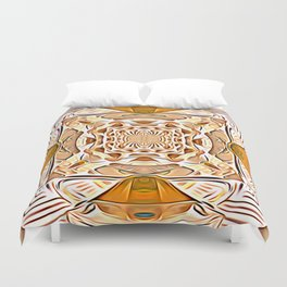 Green Tea With Mint Leaves And Honey Energy Essence Duvet Cover