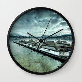 Lake Lucerne Jetty Wall Clock