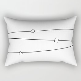 Lines and geometric shapes, simple Rectangular Pillow