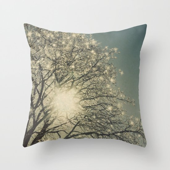 Winter Sparkle Throw Pillow