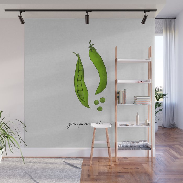Give Peas A Chance Kitchen Decor Wall Mural By Paperpixelprints Society6