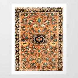 Sarouk Poshti Vintage Persian Rug Print Kunstdrucke