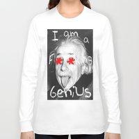 einstein Long Sleeve T-shirts featuring Einstein  by Hijack:D