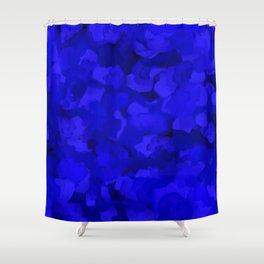 Rich Cobalt Blue Abstract Shower Curtain