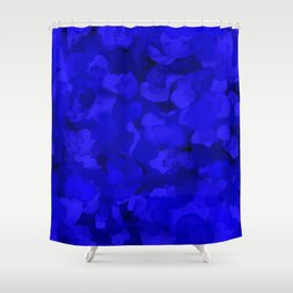 Rich Cobalt Blue Abstract Shower Curtain