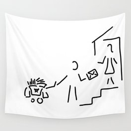 postman mailman post Wall Tapestry