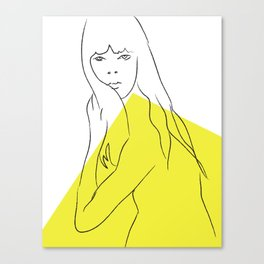 Yellow Portrait 1 Canvas Print