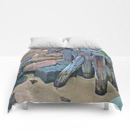 Wellfleet Pier Support Comforters